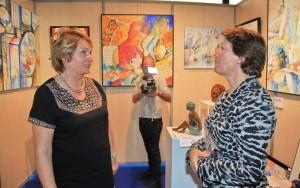 Avec Marina Picasso - Stand J. Gagnès-Deneux  (photo Eric Ruty)